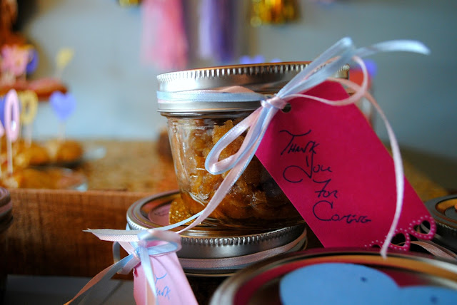 Galentine's Day sugar scrub party favor close up