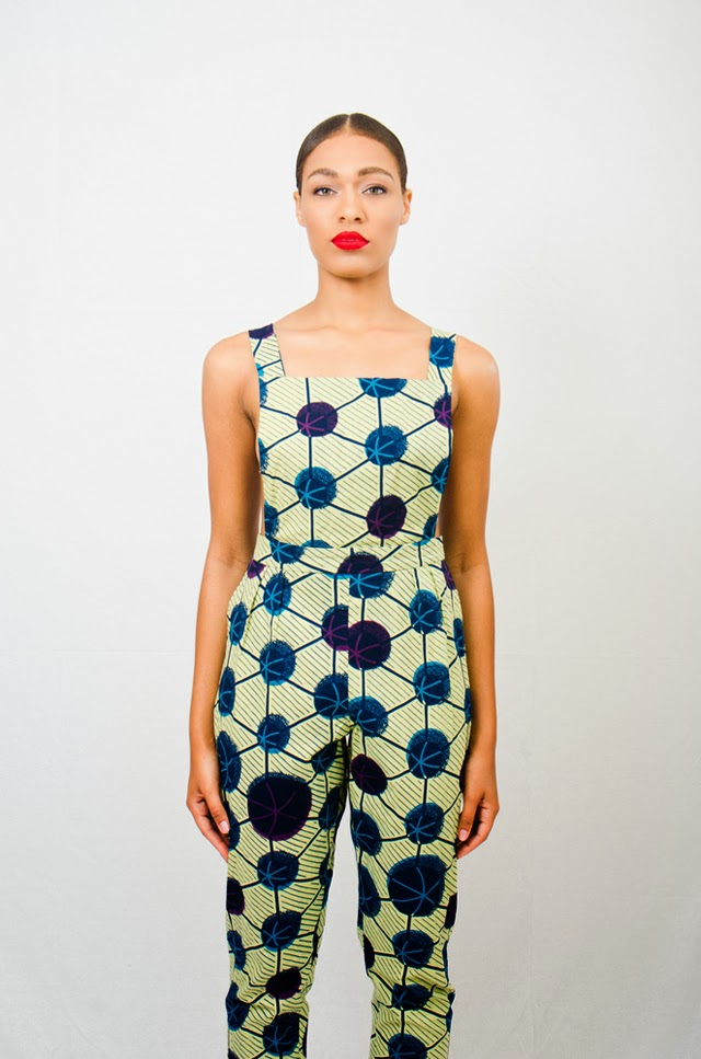 African print overall Asiyami Gold more on ciaafrique.com