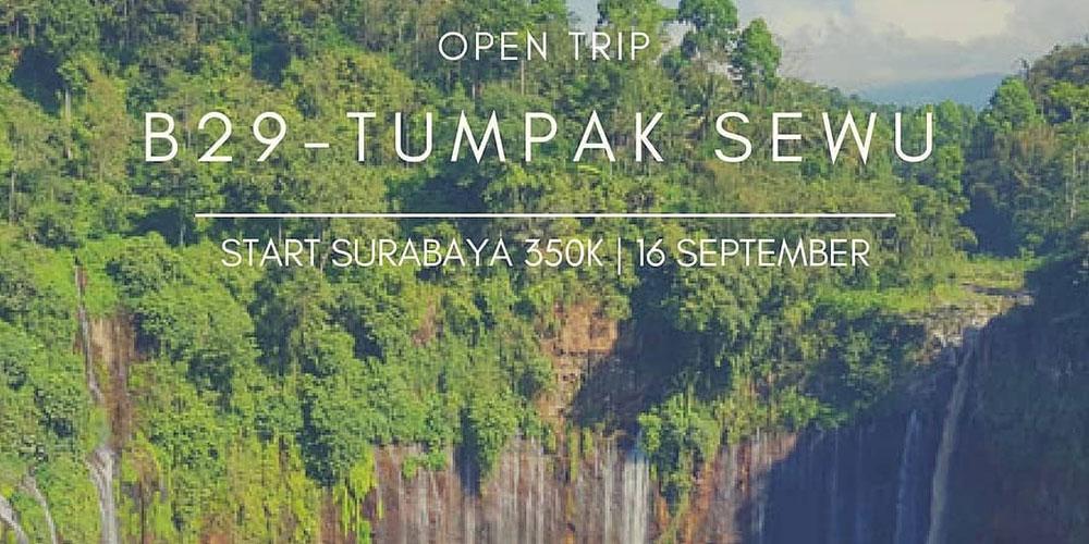 open trip puncak B29 Bromo dan Air Terjun Tumpak Sewu Lumajang