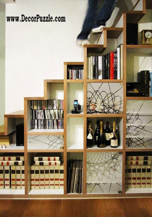 under stairs ideas and storage solutions, under stairs library and bookcase