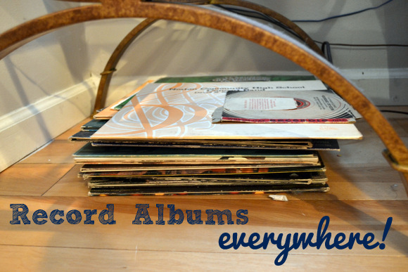 Record albums everywhere!