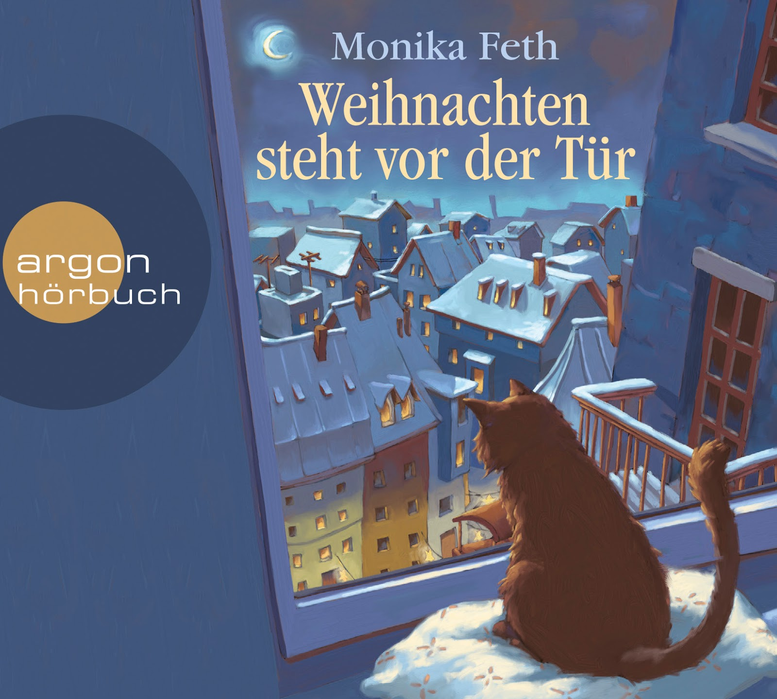 buchverzueckt weihnachten steht vor der t r monika feth. Black Bedroom Furniture Sets. Home Design Ideas