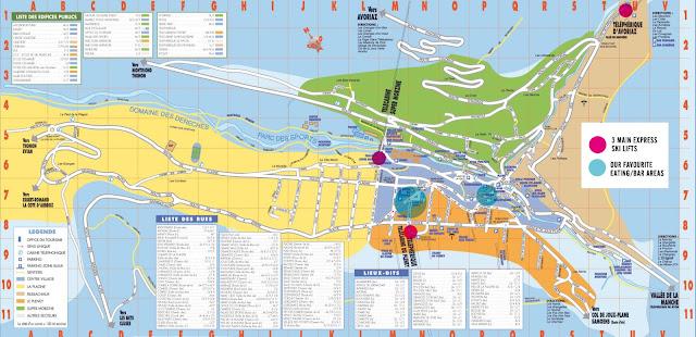 Rue du Borg. Morzine, map, Avoriaz, Les Gets, Morzine, France, Hotels, Ski, Resort, Portes du Soleil, The Alps, Skiing