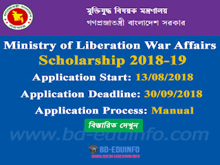 Bangladesh Varot Moitri Freedom Fighter scholarships 2018-2019
