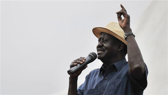 Kenya opposition leader Raila Odinga says electoral officials' lives threatened