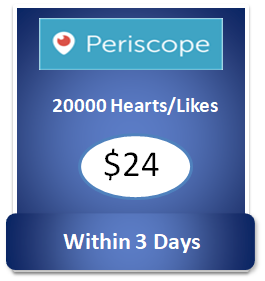 20000 buy Periscope Hearts