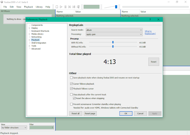 تحميل برناج Foobar2000 beta لتشغيل الملفات الصوتية بجودة عالية الدقة للويندوز