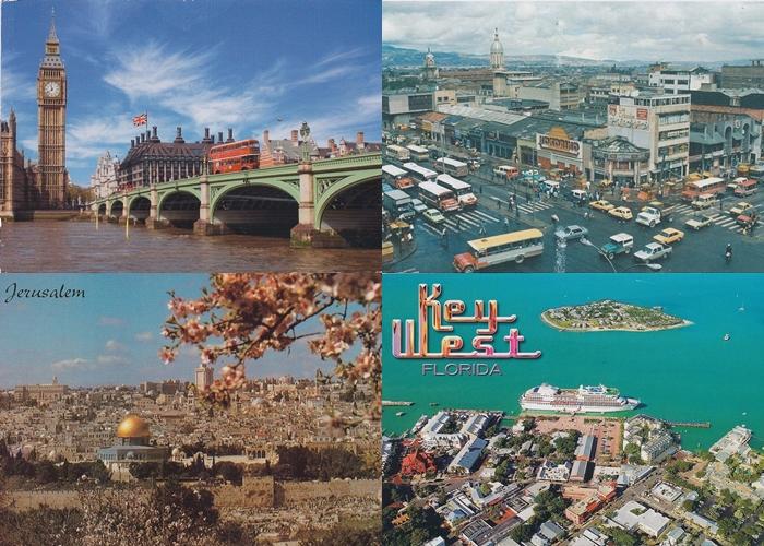 182. - 185. 4 oblicza miast z 4 różnych kontynentów