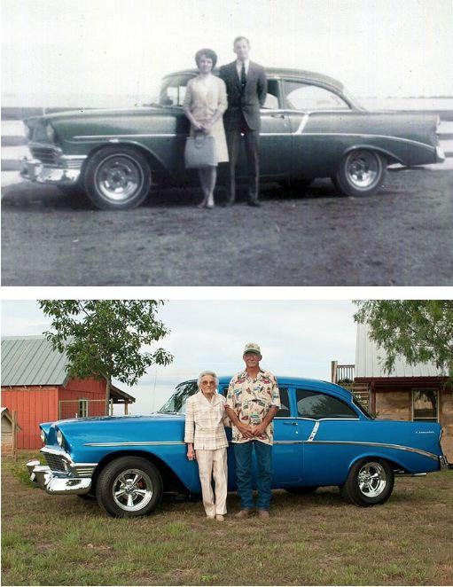 وزوجان يلتقطان نفس الصور في نفس المكان الذي جمعهما.
