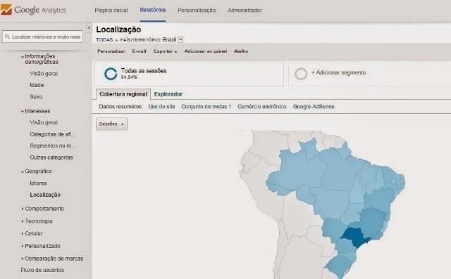 Google Analytics Mapa de Visitantes