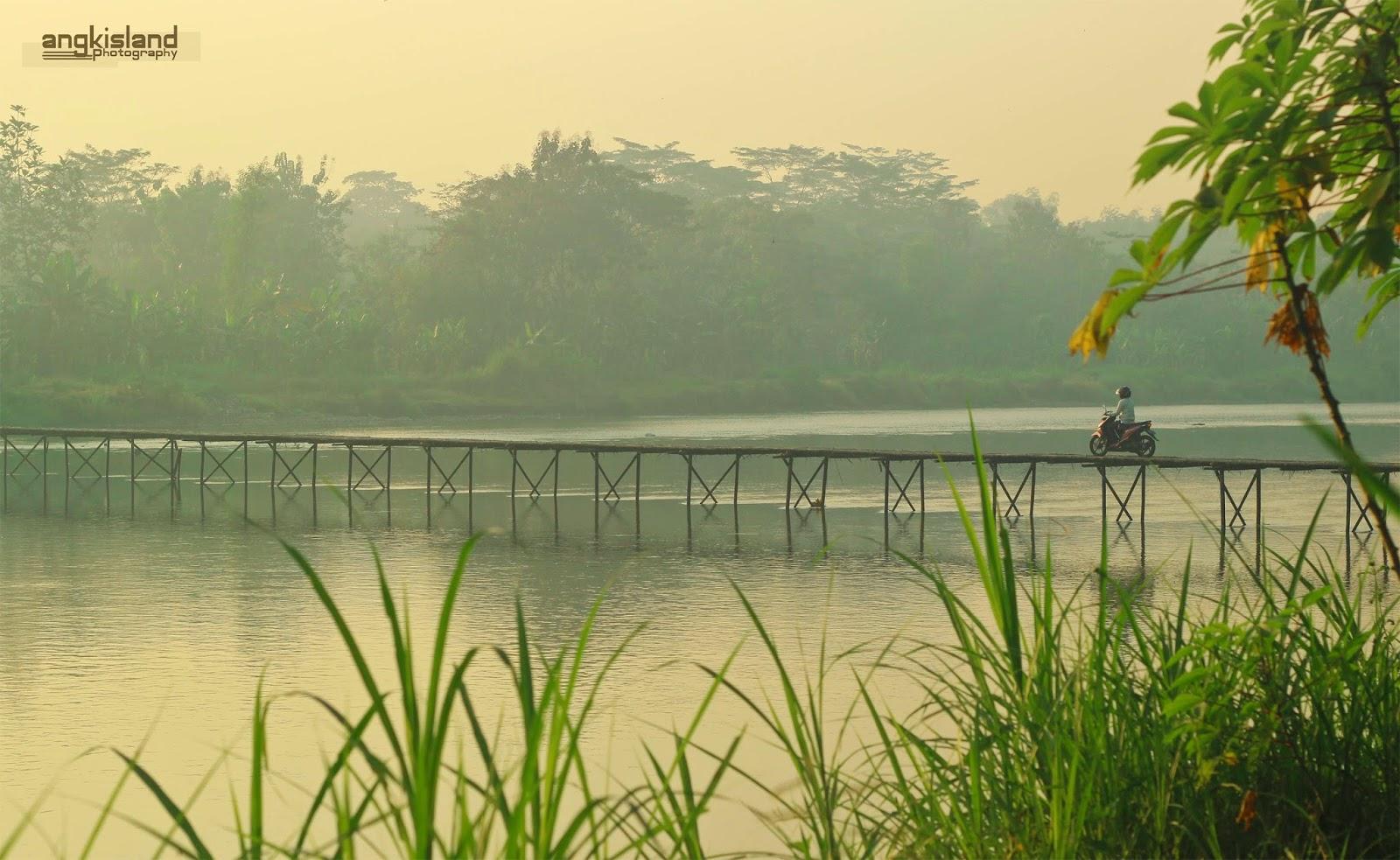 jembatan bambu Yogyakarta