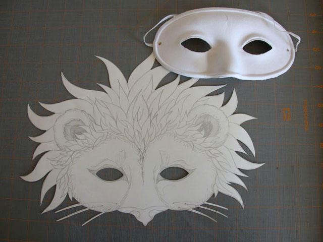 Art on the Page: Lion Mask