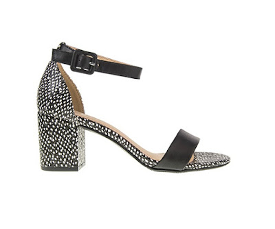 Chinese Laundry Black And White Low Block Heel