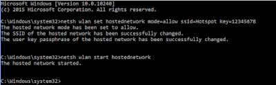 Start HostedNetwork