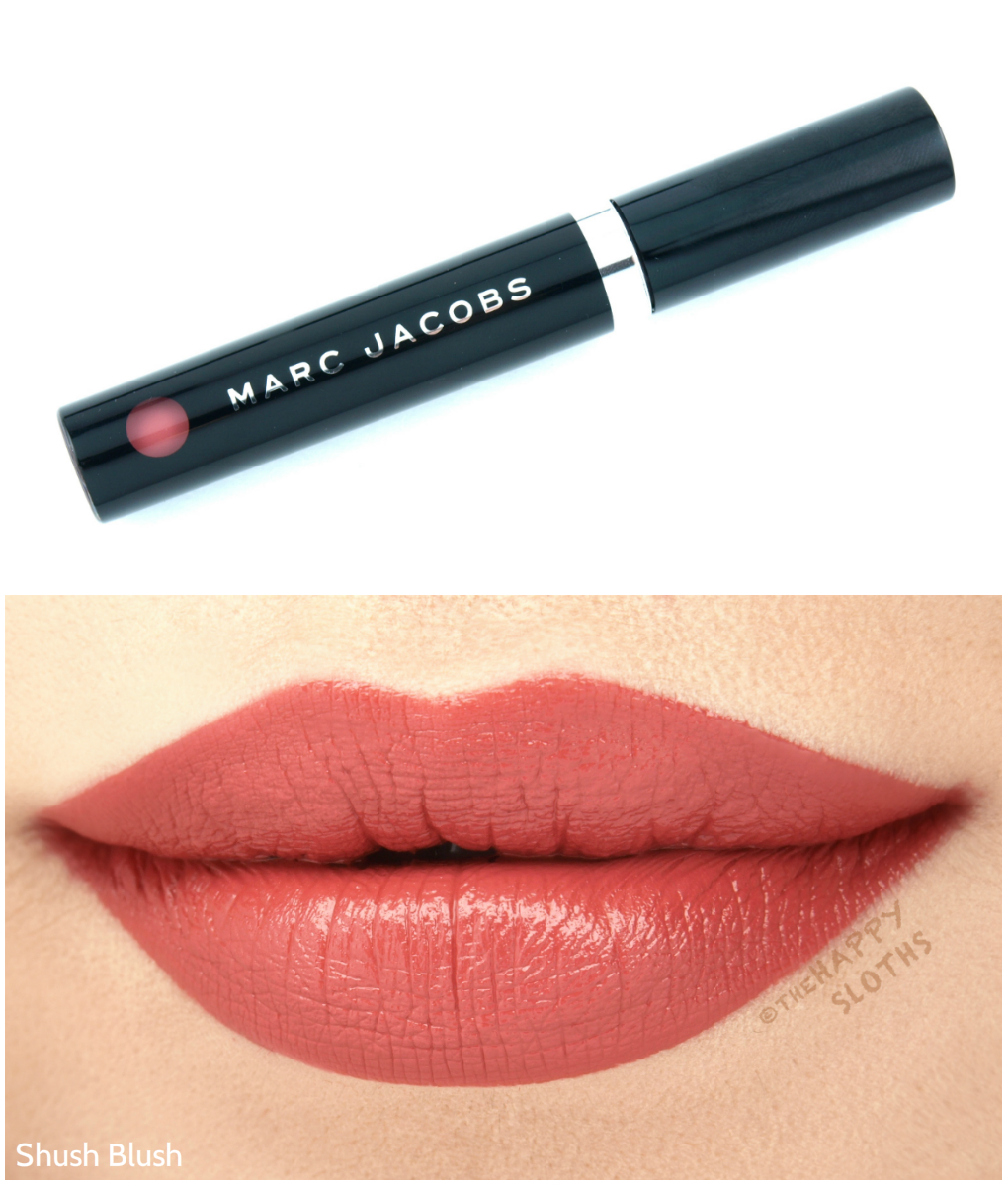 "Marc Jacobs Le Marc Liquid Lip Creme in ""Shush Blush"": Review and Swatches"