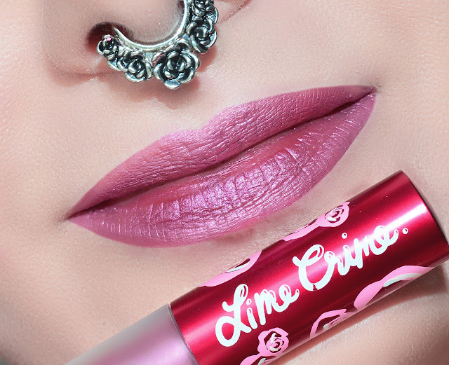 Lime crime Metallic Velvetines Vibe стойкая матовая помада металлик застывашка липстейн
