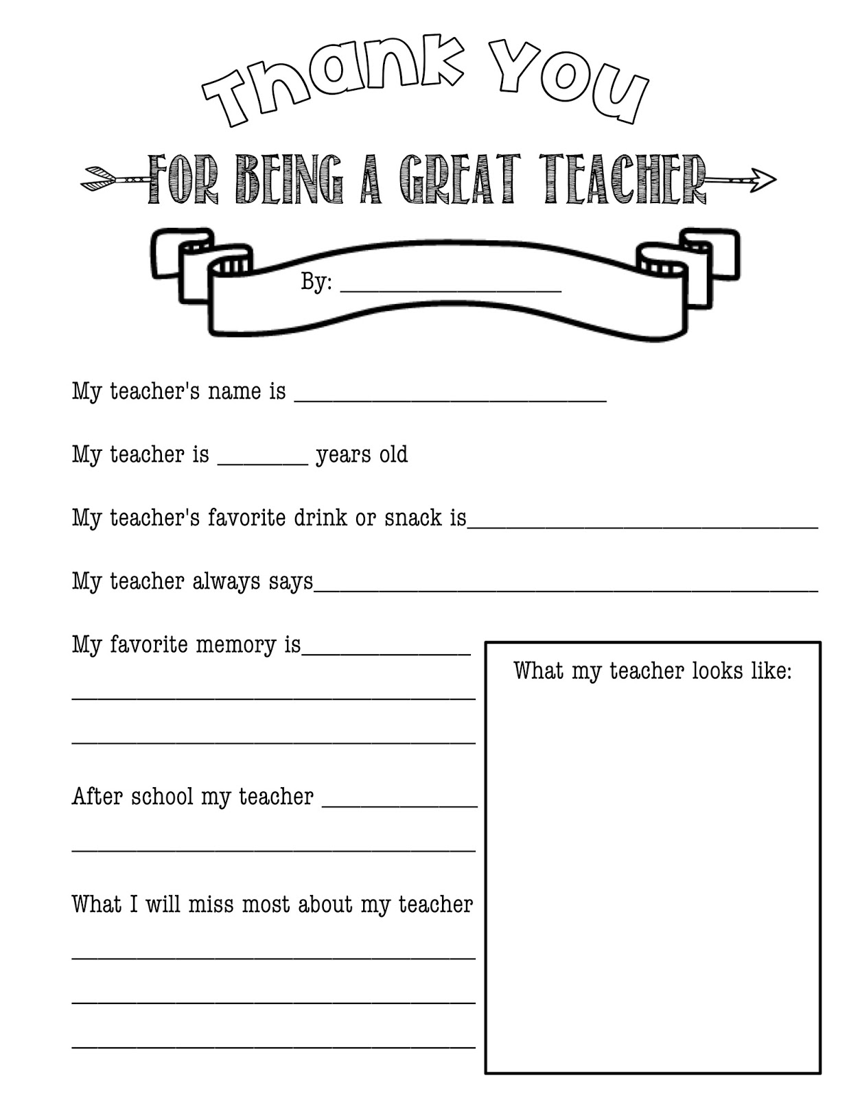 Free Teacher Questionnaire
