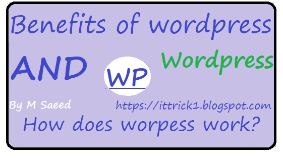 benefits of wordpress | How does wordpress work?