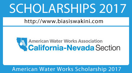 American Water Works Association Scholarship 2017