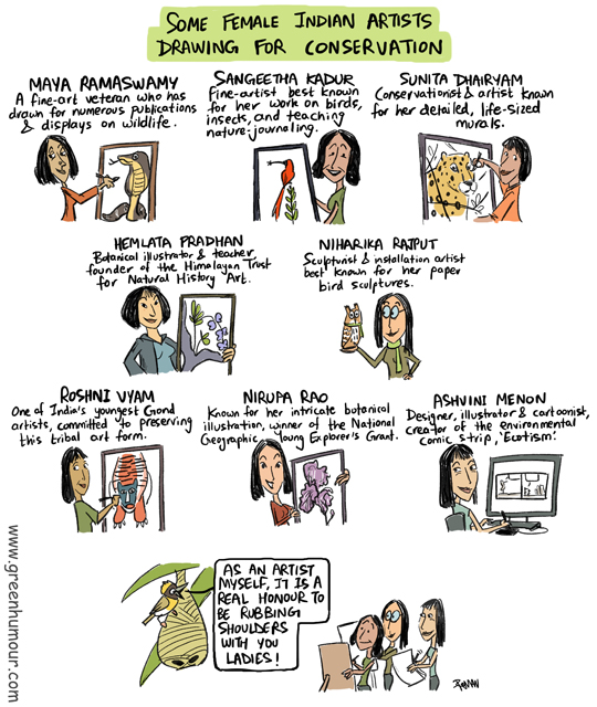 Green Humour: Some Female Indian Wildlife Artists