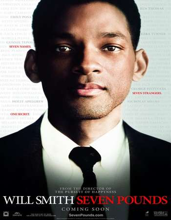 Poster Of Seven Pounds 2008 Dual Audio 140MB BRRip HEVC Mobile ESubs Free Download Watch Online Worldfree4u