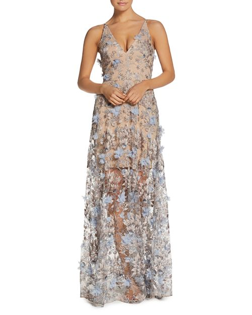 Sidney Floral Illusion Gown