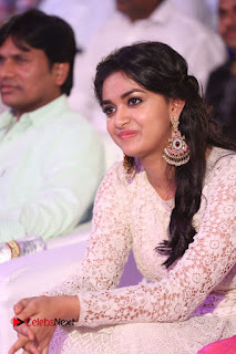 Actress Keerthi Suresh Pictures in Long Dress at Rail Movie Audio Launch  0015.JPG