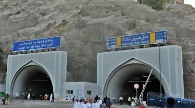 Gunung-gunung di Mekkah berlubang