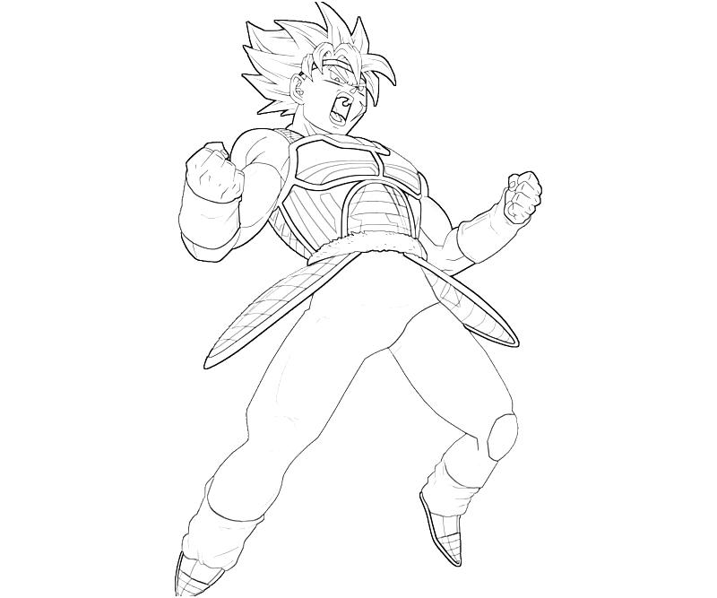 Bardock Coloring Pages Coloring Pages