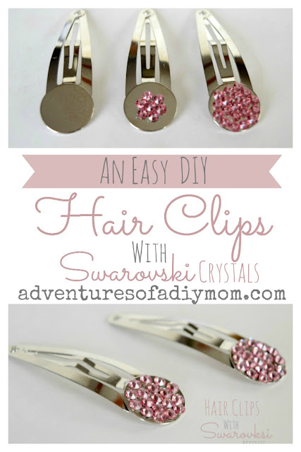 Super Easy Hair Clips with Swarovski Accents