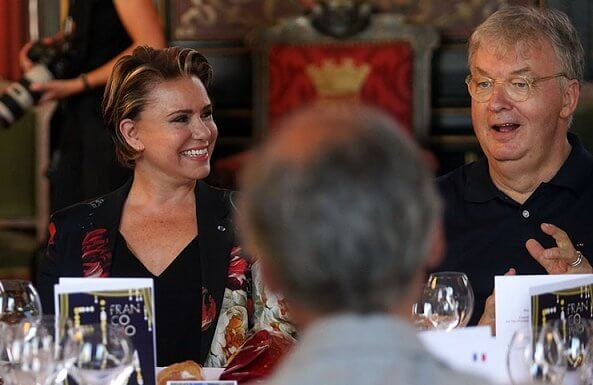 The Duke and Duchess attended a lunch at the city hall