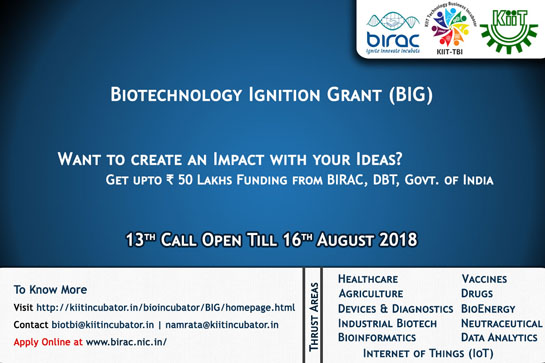 Have Ideas? Biotechnology Ignition Grant for Biotech