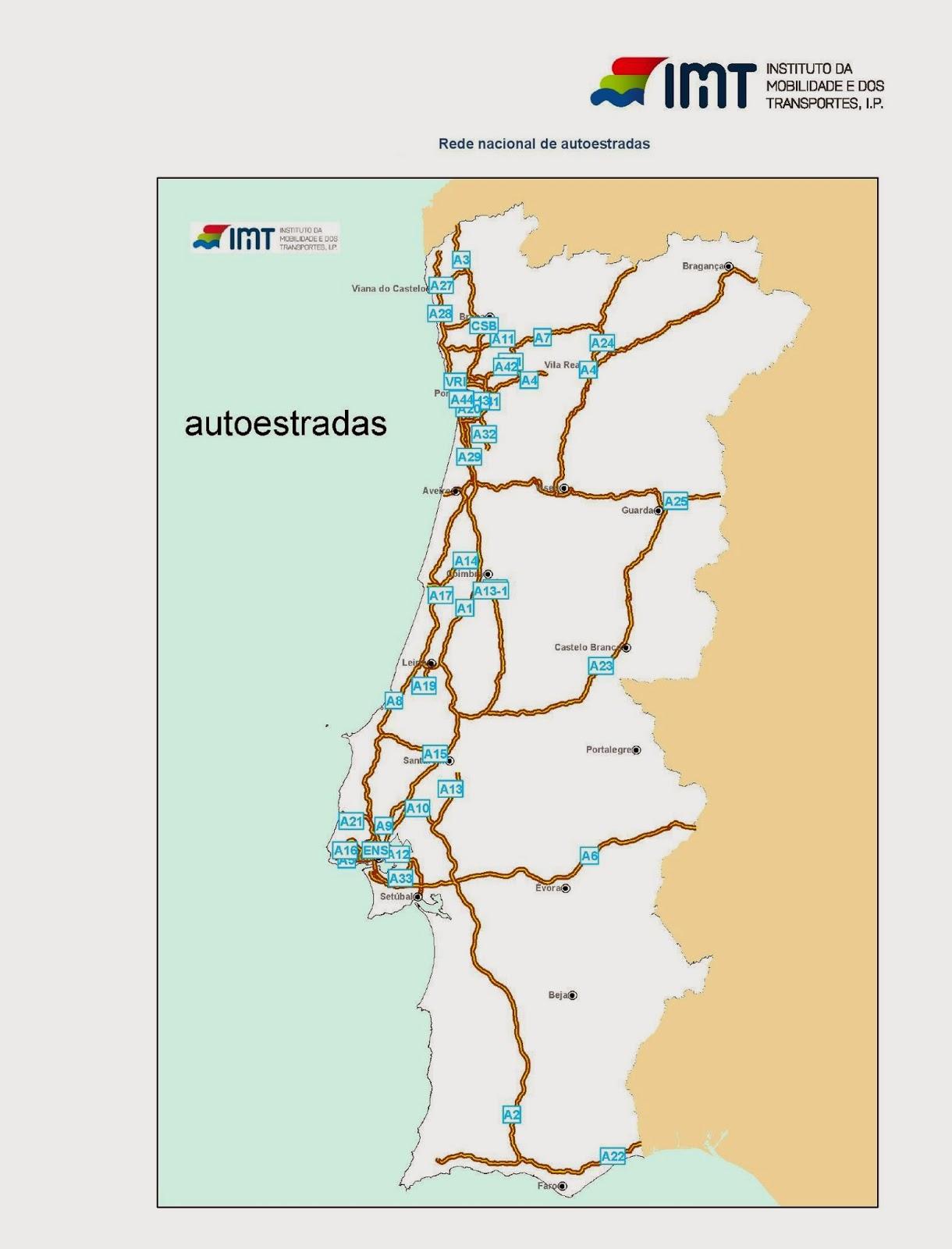 mapa da rede de autoestradas de portugal Estradas de Portugal   SkyscraperCity mapa da rede de autoestradas de portugal