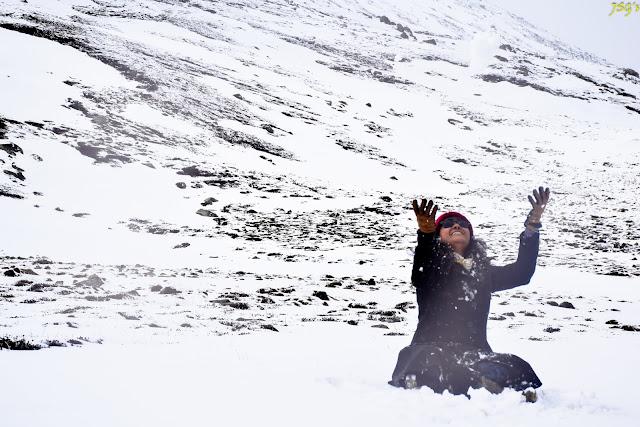 Yumsamdeong Snowing: Photo by Jayashree Sengupta @DoiBedouin