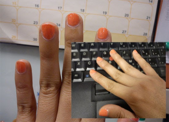 Nail Polish of the Week: Orange Color from Etude House