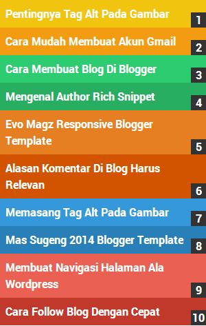 Cara Membuat List Belang Pelangi Di Blog