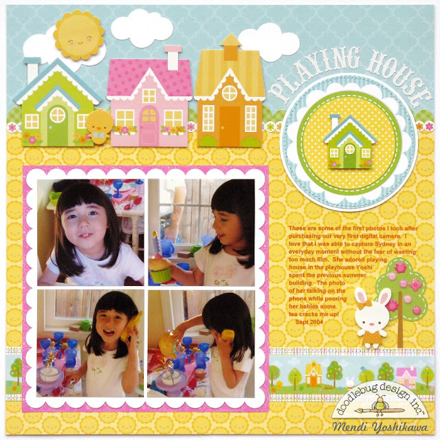 Doodlebug Bunnyville House Themed Layout by Mendi Yoshikawa