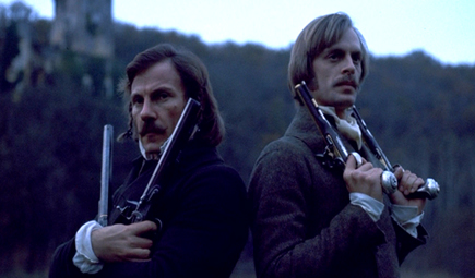 Harvey Keitel and Keith Carradine in The Duellists