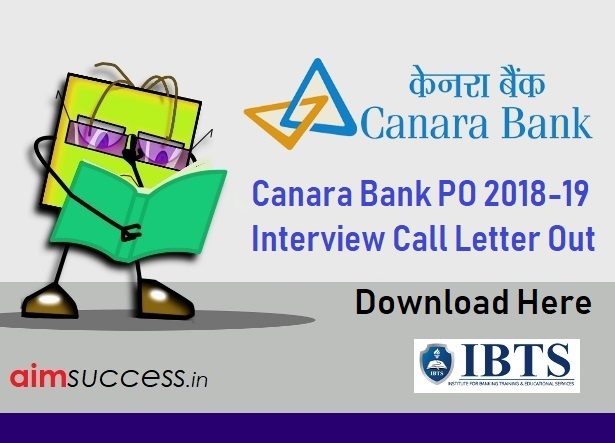 Canara Bank PO Interview Call Letter 2018-19 Out, Download Here