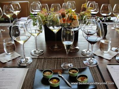 salon wine tasting at The Sonoma House at Patz & Hall winery in Sonoma, California