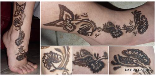 un blog de fille menhdi motif henn sur mon pied. Black Bedroom Furniture Sets. Home Design Ideas