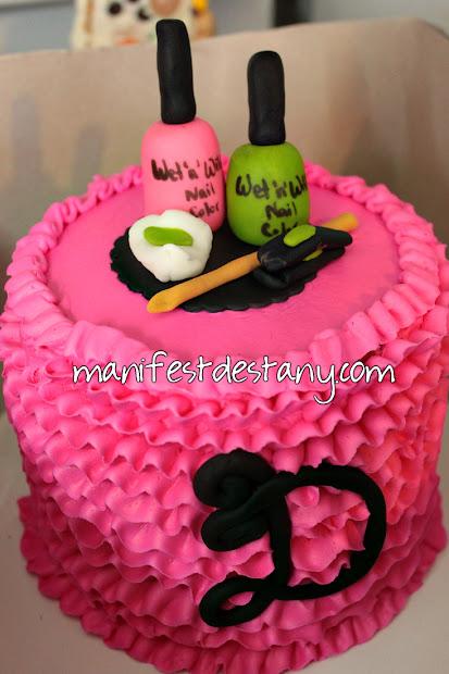 birthday cake - nail polish