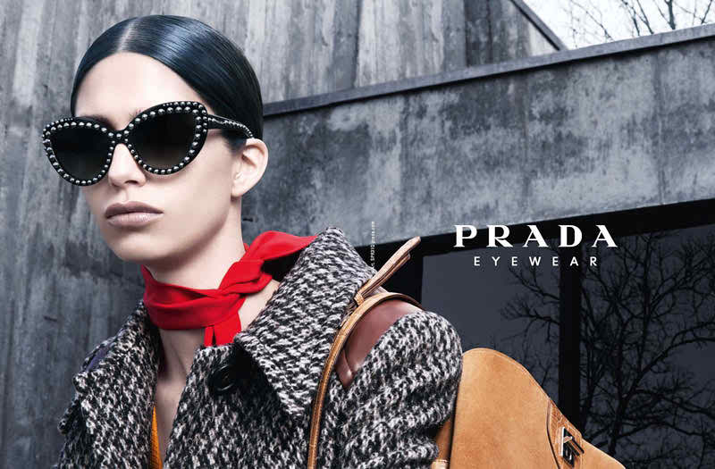 Prada Eyewear Fall/Winter 2014 Campaign featuring Mica Arganaraz