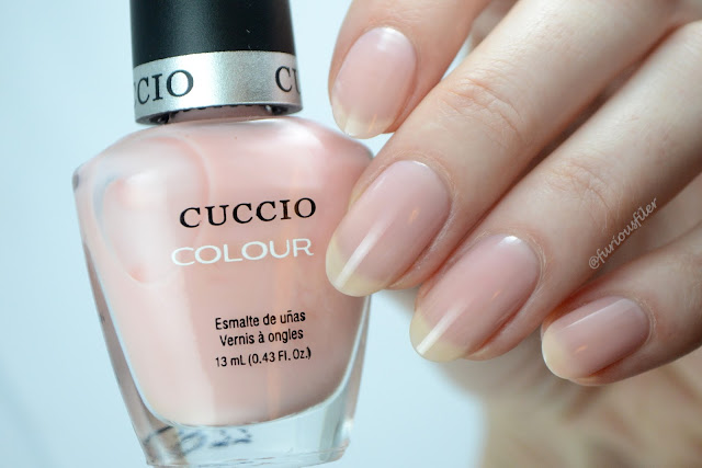 cuccio crush in lake como swatch pink french