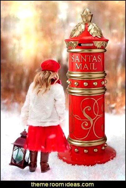 Santa's North Pole Holiday Mailbox  Christmas gifts - Christmas shopping - Christmas decorations - Santas shopping mall - Christmas decorating - gift ideas for mothers - gifts for men - gift ideas for women -  gift ideas for girls - gift ideas for boys -