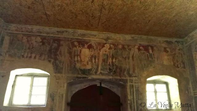 S. Maria delle lastre -Vermo ( Istria)  danza macabra