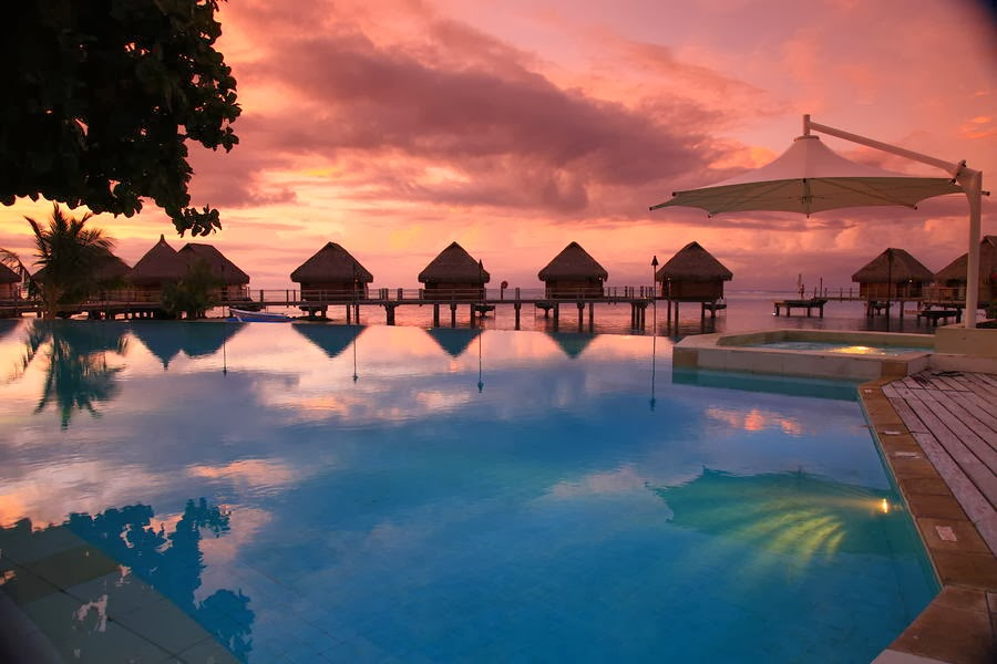 """Hd Tropical Island Beach Paradise Wallpapers And Backgrounds: Wallpaper: Beauty Of Nature """"Tahiti Islands Resort Is A"""