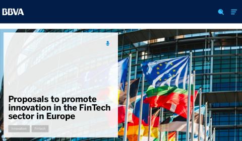 Proposition de BBVA pour la FinTech européenne