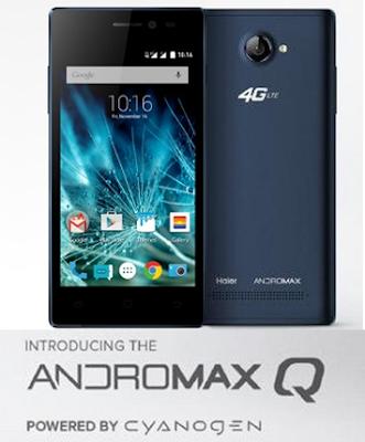 Smartfren Andromax Q, Ram1GB, OS android Lollipop v5.0 (Cynogen CM12)