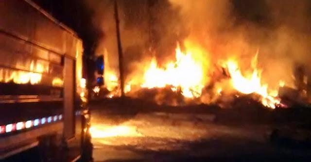 Incêndio destrói serraria em Iretama